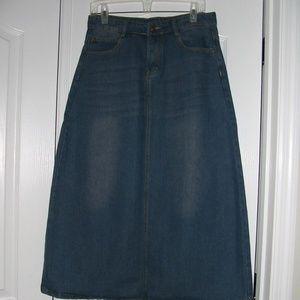 Dresses & Skirts - Maxi Jean Skirt   S